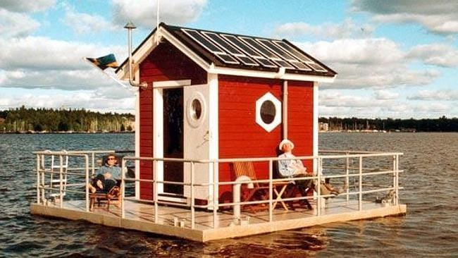 THE Utter Inn, a single underwater room in a Swedish lake near Stockholm. Pictures: supplied www.unusualhotelsoftheworld.com
