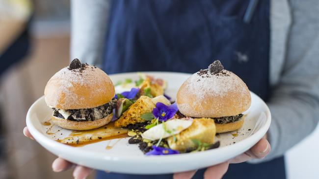 The burgers are better at Left Field. Especially when they're actually oreo breakfast sliders. 358 Koornang Rd, Carnegie. Picture: Eugene Hyland