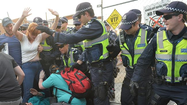 Protesters removed from drill site
