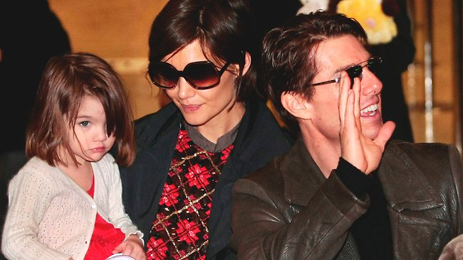 Tom Cruise with Katie Holmes and Suri in 2009. Picture: AP