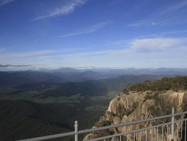 Lookout over Mount Buffalo National Park.