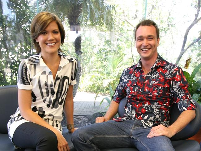 Sarah Harris with Joseph May back in 2007, while still reporting for Channel 9.