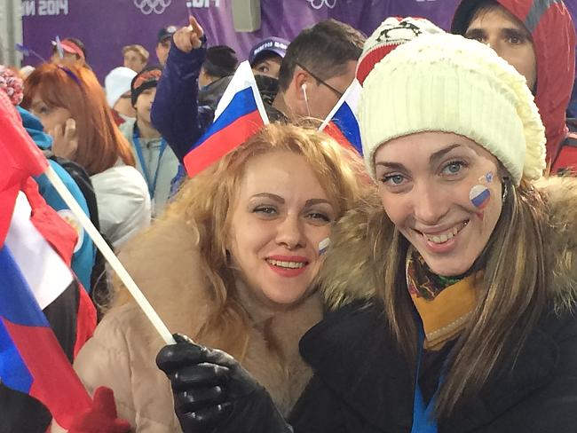 Russians looking ridiculously happy