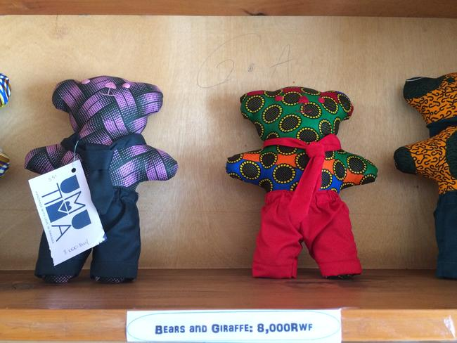 Some of the very many items lovingly created in the Nyamirambo Women's Centre. Picture: Tamara Hinson
