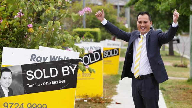 Meanwhile in Sydney's west, Tom Lu from Fairfield Ray White broke property records last week when he sold three properties at Canley Heights for $5.85 million. Picture: Carmela Roche