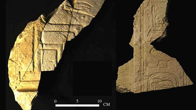 Fragments from the tomb of the Pharaonic King Sobekhotep I in south Abydos in Upper Egypt. AFP / SCA