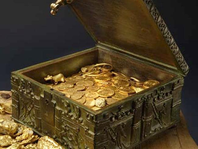 This photo provided by Forrest Fenn contains the chest that is purported to hold hundreds of rare gold coins and other artefacts hidden in the Rocky mountains. Pic: AP, Addison Doty