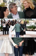 "Rooney Mara, US director Todd Haynes and Cate Blanchett joke as they pose during a photocall for the film ""Carol"" at the 2015 Cannes Film Festival. Pictures: AFP"
