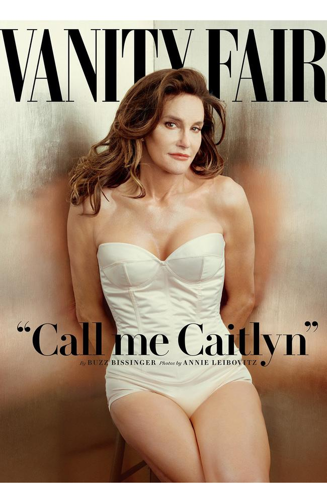 Caitlyn Jenner appears on the cover of Vanity Fair. Picture: Annie Leibovitz/Vanity Fair