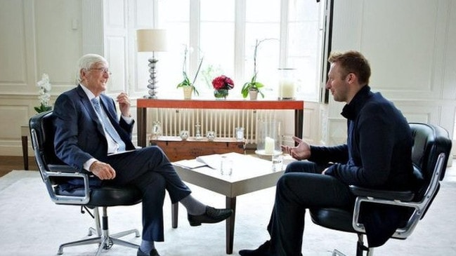 Sir Michael Parkinson interviews champion swimmer Ian Thorpe