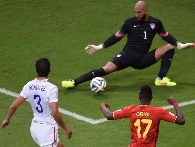 Belgium has already threatened the USA's goal through striker Divock Origi.