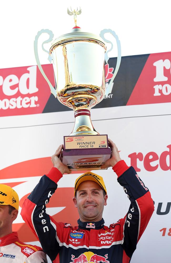 Jamie Whincup notched win number 106 in Sydney