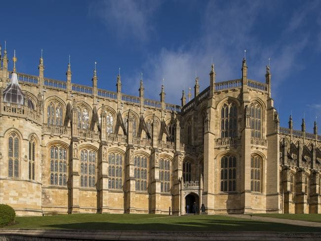 St George's Chapel at Windsor Castle, where Britain's Prince Harry and US actress Meghan Markle will hold their wedding ceremony. Picture: AFP/Dominic Lipinski