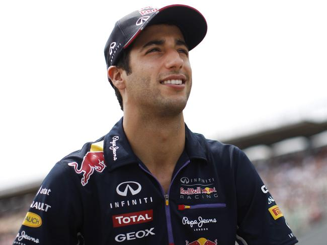 Daniel Ricciardo tries to contain his inner rage at the German Grand Prix.