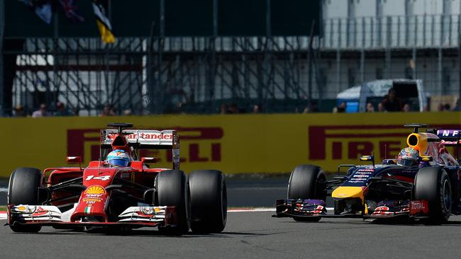 Alonso believed it was only a matter of time before Vettel passed him.