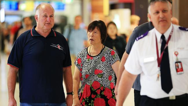 Devastation ... Helen Chan, the mother of Andrew Chan, flies out of Sydney to Bali.
