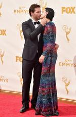 Peter Facinelli and Jaimie Alexander attend the 67th Annual Primetime Emmy Awards in Los Angeles. Picture: Getty