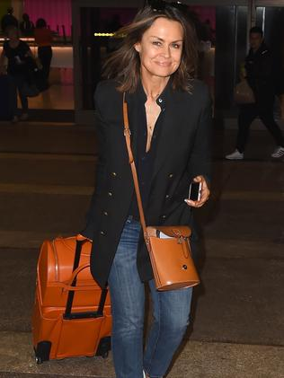 Lisa Wilkinson was spotted arriving in LA on Sunday. Picture: Backgrid