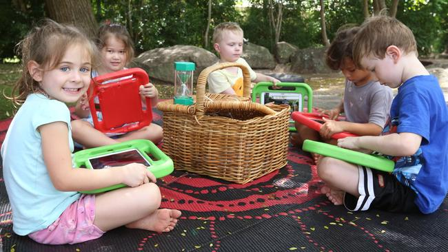 Children from the Logan Community Child Care Centre in Queensland are successfully learning Arabic after using the federal government's early learning Language app. Picture: News Corp Australia