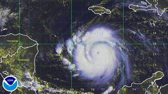 UH-OH: Hurricane Felix thunders across the Caribbean towards Belize and Honduras in September 2007.