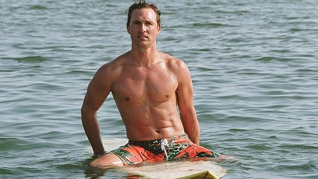 Matthew McConaughey shows off that chest. Picture: Splash