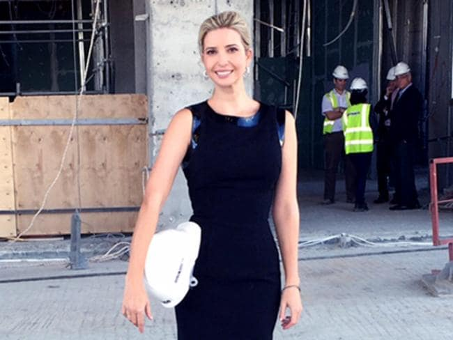 Ivanka Trump posted images from her tour of the Baku Tower on her website.