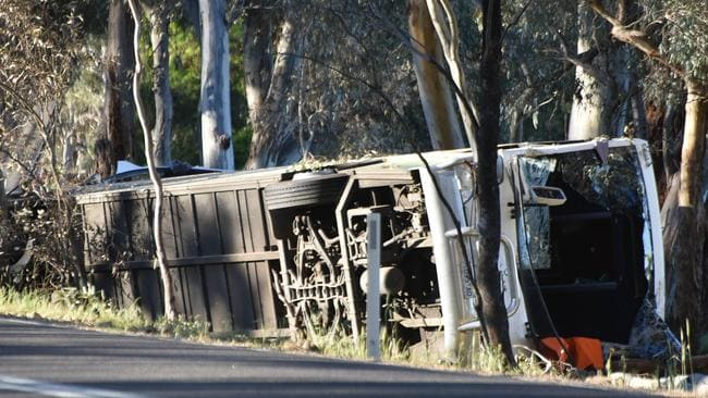 A second victim has died after being injured in last Saturday's horrific bus smash tragedy in northwest Victoria. Picture: Ian Wilson