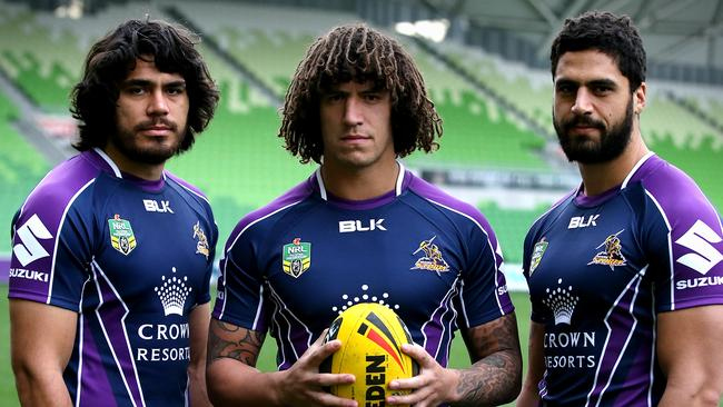 Melbourne Storm Kiwi players Tohu Harris, Kevin Proctor and Jesse Bromwich.