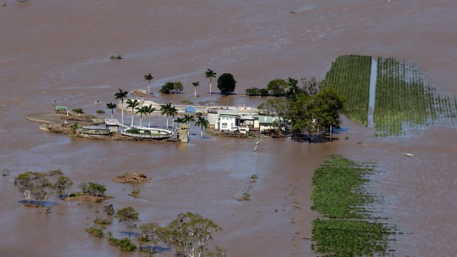 The town of Bundaberg hit by floods. Pic Mark Calleja