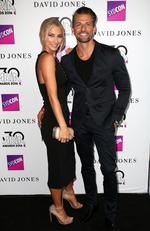 Anna Heinrich and Tim Robards arrive on the red carpet for the 30th Annual ARIA Awards 2016 at The Star on November 23, 2016 in Sydney, Australia. Picture: Christian Gilles