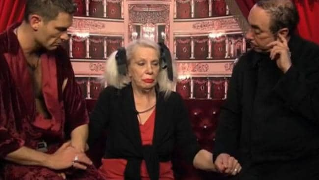Angie Bowie is comforted by John Partridge and David Gest after being told her ex-husband David has passed away.