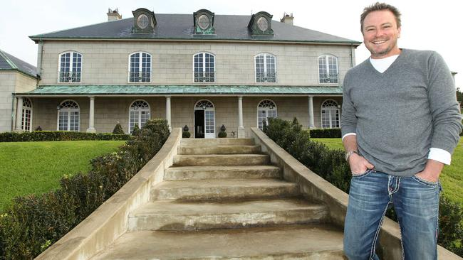 Aaron Parkhill on the sprawling grounds of his property, Campbell Point House.