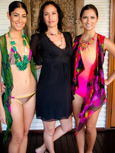 Kira Fong, Stephanie Heil and Elesha Millar at the Hawaiian Group Lunch at Cable Beach Resort and Spa. Picture: Brett Barnett