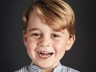 "An image taken in June 2017, and released by Kensington Palace on July 21, 2017, shows Britain's Prince George posing for an official portrait for his fourth birthday, in Kensington Place in London. Prince George, the eldest child of Britain's Prince William, Duke of Cambridge and Britain's Catherine, Duchess of Cambridge, will be four on July 22. / AFP PHOTO / KENSINGTON PALACE / Chris Jackson / RESTRICTED TO EDITORIAL USE - MANDATORY CREDIT ""AFP PHOTO / CHRIS JACKSON/Getty Images"" - NO MARKETING NO ADVERTISING CAMPAIGNS - DISTRIBUTED AS A SERVICE TO CLIENTS == NO ARCHIVE"