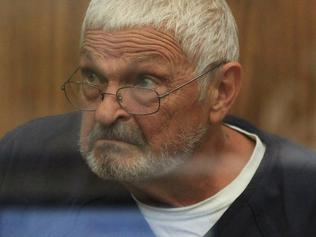 Tennis coach Nick Philippoussis, 68, is seen in his first court hearing since being arrested in San Diego for allegedly sexually abusing two girls he coached in San Diego.