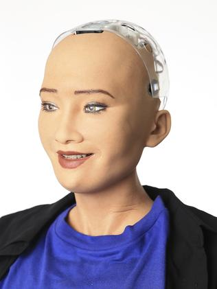 Sophia is the world's most advanced humanoid robot. Picture: Dylan Robinson