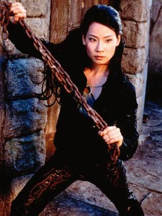 Lucy Liu in character for Charlie's Angels.