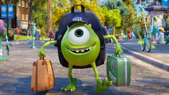 "Mike Wazowski, voiced by Billy Crystal in a scene from ""Monsters University."" (AP Photo/Disney-Pixar)"