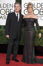 Kurt Russell and Goldie Hawn attend the 74th Annual Golden Globe Awards at The Beverly Hilton Hotel on January 8, 2017 in Beverly Hills, California. Picture: Getty