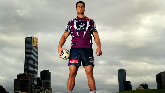 Melbourne Storm front rower Jesse Bromwich. Picture: Colleen Petch