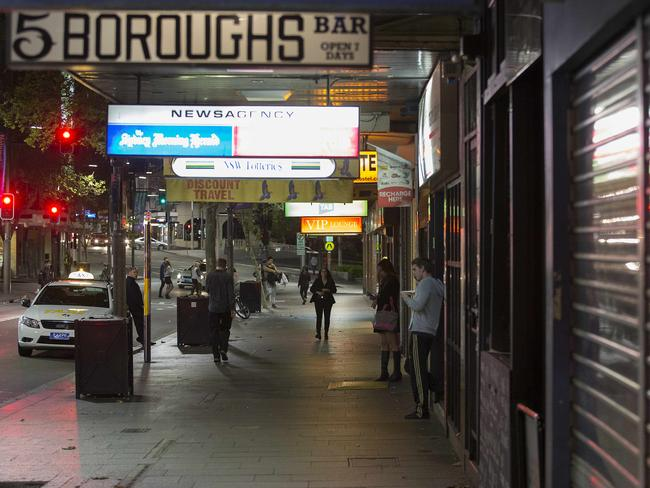 The streets of Sydney became dead quiet after the lockout laws took place. Photo: Chris McKeen