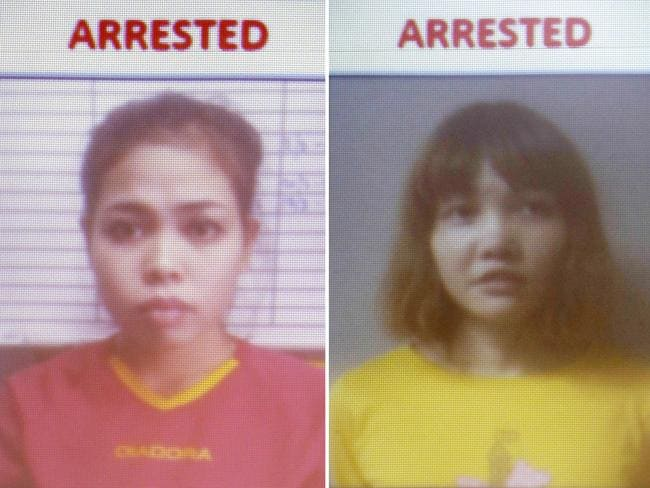 Indonesian suspect Siti Aisyah, left, and Vietnamese suspect Doan Thi Huong. Picture: AP