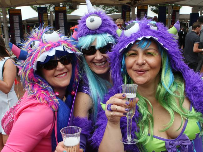 Race goers enjoy the day at Melbourne Cup Day at Flemington Racecourse in Melbourne, Tuesday, Nov. 3, 2015. Picture: AAP Image/David Crosling