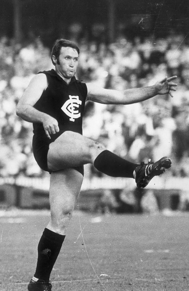 The  <i>Herald Sun</i> selection committee axed Carlton's John Nicholls from the rebooted AFL team of the Century. Picture: Photo File