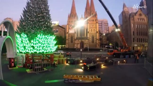 Christmas In Melbourne: Santa Claus At Federation Square