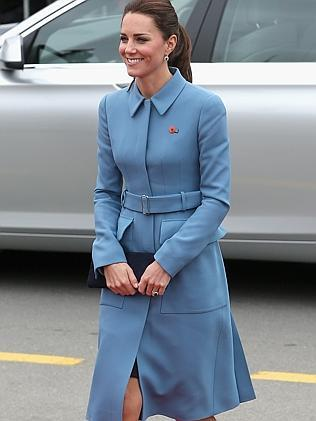 Catherine, Duchess of Cambridge wears Sarah Burton for Alexander McQueen as she meets the gathered crowds in Seymour Square during in Blenheim, New Zealand. Picture: Getty Images