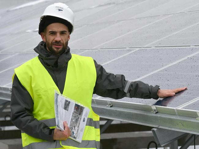 Yevgen Varyagin, the head of the Ukrainian-German company Solar Chernobyl said the solar power project 'can cover the needs of a medium-sized village'. Picture: AFP