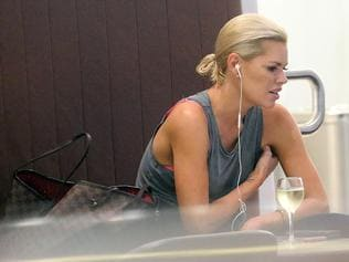 EXCLUSIVE Daily Telegraph one time use no online. The Bachelorette Sophie Monk is seen drinking white wine on Wednesday afternoon at Melbourne Airport, long after other celebrities had left the city. MUST CREDIT DIIMEX.COM