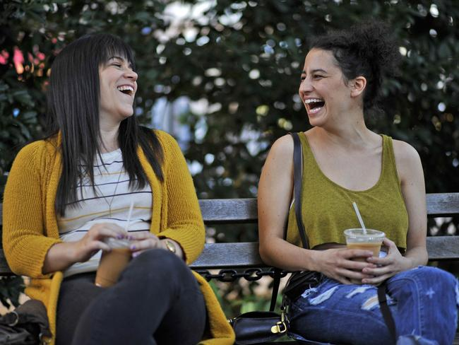 Abbi Jacobson and Ilana Glazer in the Comedy Central series, Broad City.
