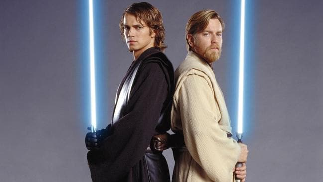 Hayden Christensen and Ewan McGregor in Star Wars Episode III: Revenge of the Sith.